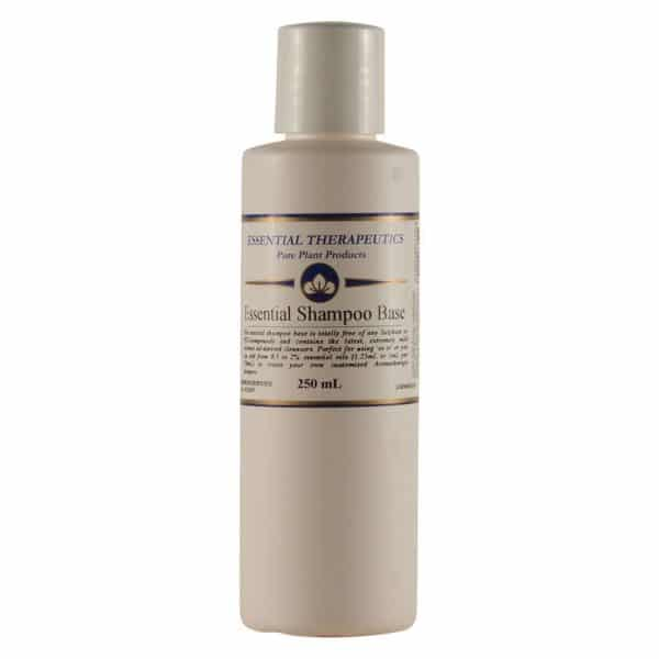 Essential Therapeutics Essential Shampoo Base (Sulfate & PEG-free) in a bottle on a white background