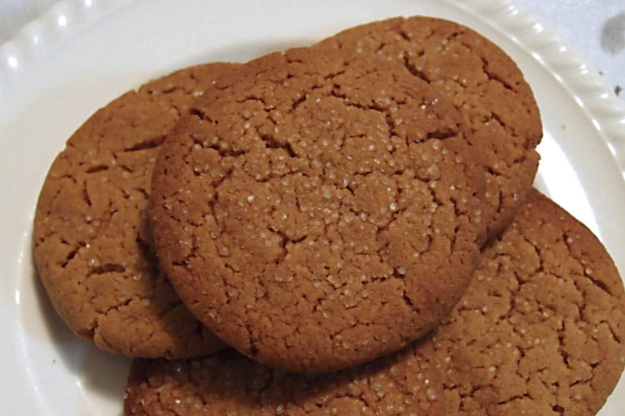 Healthy Ginger Nut Snaps