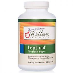 Wellness Resources® Leptinal® (180 capsules) in white bottle on a white background