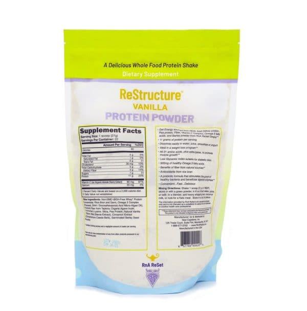 Dr Carolyn Dean's Restructure™ Protein Powder Vanilla Supplement Facts