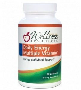Wellness Resources® Daily Energy Multiple Vitamin (270 capsules) in a bottle on a white background