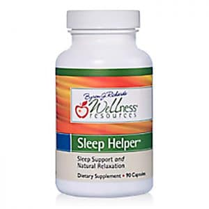 Wellness Resources Sleep Helper in a bottle on a white background
