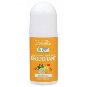 Biologika Roll-On Deodorant 70ml in a bottle on a white background