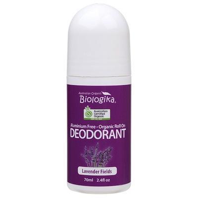 Biologika Roll-On Deodorant 70ml - Lavender Fields in a bottle on a white background