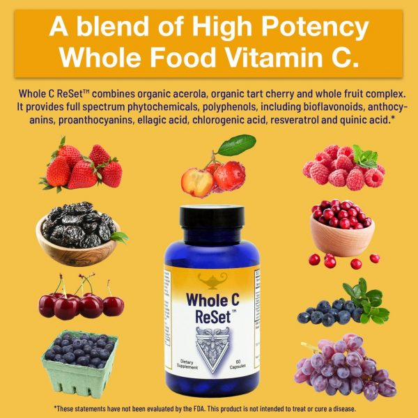 Dr Carolyn Dean's Whole C Re Set™ (60 capsules) information about a blend of high potency whole food vitamin C